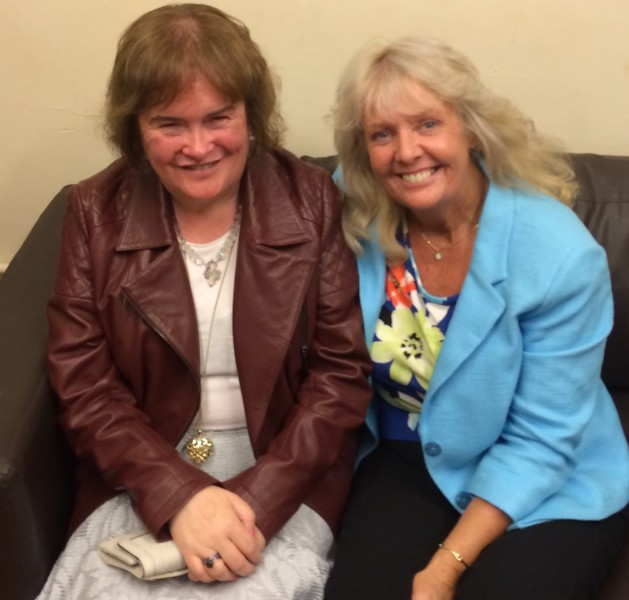 June & Susan Boyle when Susan attended one of her shows.
